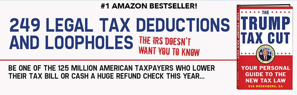 249 legal tax deductions and loopholes the IRS doesn't want you to know. Be one of 125 million American taxpayers who lower their tax bill or cash a huge refund check this year.